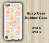 Pink Floral Pattern iPod Touch 5 Case iPod Touch 4 Case - Acyc - 1