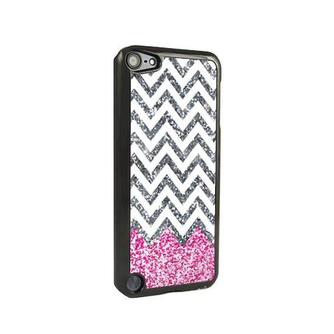 Pink Glitter Chevron iPod Touch 5 and iPod Touch 4 Case - Acyc