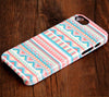 Pink and White Ethnic Aztec Tough iPhone 6 Plus/6/5S/5C/5/4S/SE Dual Layer Protective Case #233 - Acyc - 1