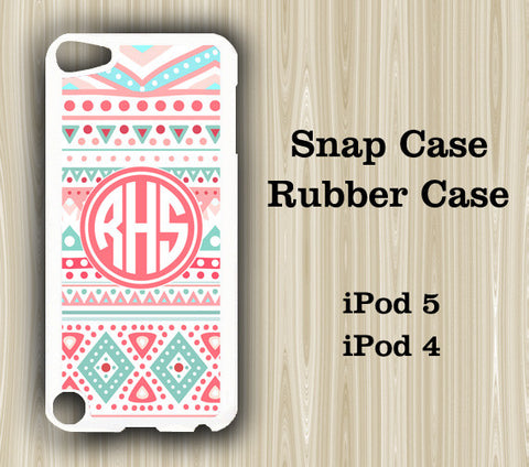 Pink Tribal Monogram iPod Touch 5 Case iPod Touch 4 Case - Acyc - 1