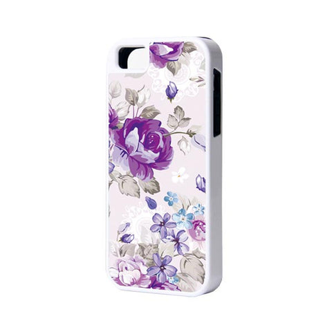 Purple Floral iPhone Cases and Samsung Cases - Acyc - 1