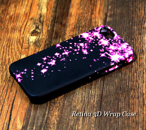 Pinky Stars Falling iPhone 6 Plus/6/5S/5C/5/4S/4 Dual Layer Durable Tough Case #234 - Acyc - 1