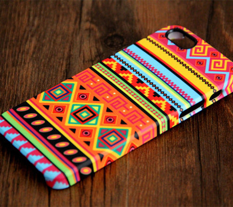 Native Ethnic Stripes iPhone 6s Plus 6 5S 5C 5 4 Dual Layer Tough Case#105 - Acyc - 1