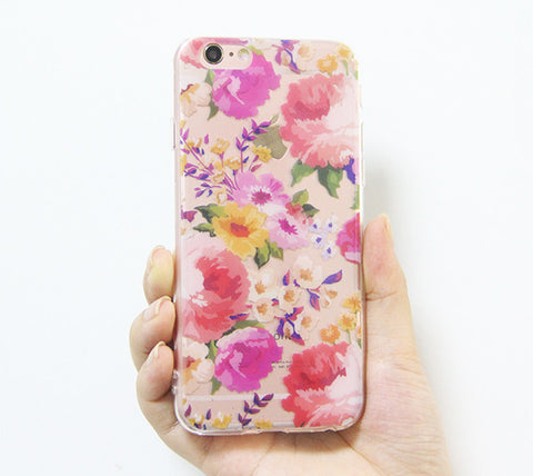 Rose Floral iPhone 6s 6 Clear Case Crystal iPhone 6s 6 plus Transparent case Soft TPU - Acyc - 1