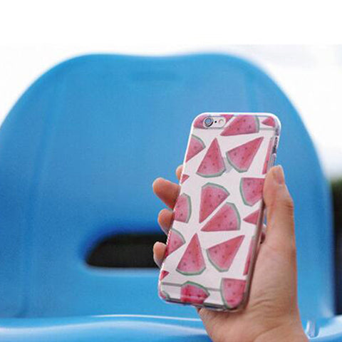 Summer Watermelon Fruit iPhone 6S/6 soft TPU Clear Case S008 - Acyc - 1