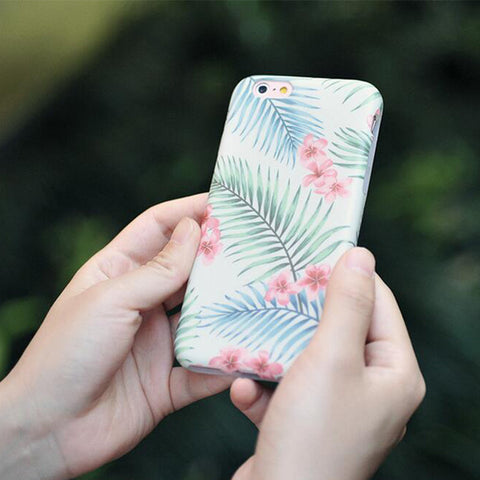 Elegant Pink Floral  soft Rubber iPhone 6S/6 Case S009 - Acyc
