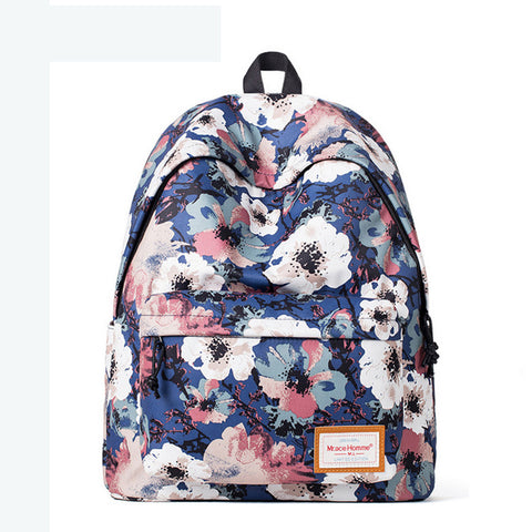 Floral Pattern School Backpack Cute for Girls SB1002 - Acyc - 1