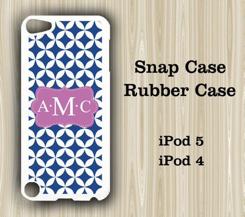Seamless Blue Pattern Monogram iPod Touch 5 Case iPod Touch 4 Case - Acyc - 1