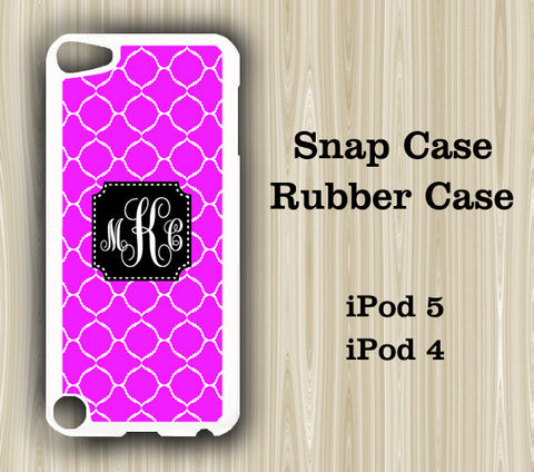 Stylish Purple Pattern Monogram iPod Touch 5 Case iPod Touch 4 Case - Acyc - 1