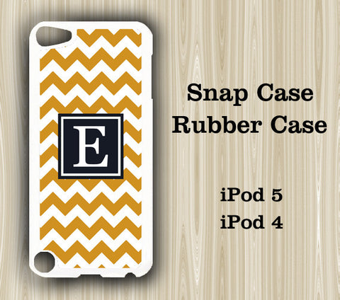 Teen Fashion Black and Yellow Chevron Monogram iPod Touch 5 Case iPod Touch 4 Case - Acyc - 1