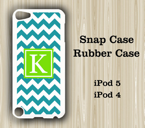 Teen Fashion Light Green Chevron Monogram iPod Touch 5 Case iPod Touch 4 Case - Acyc - 1