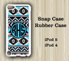 Tribal Aztec Monogram iPod Touch 5 Case iPod Touch 4 Case - Acyc - 1