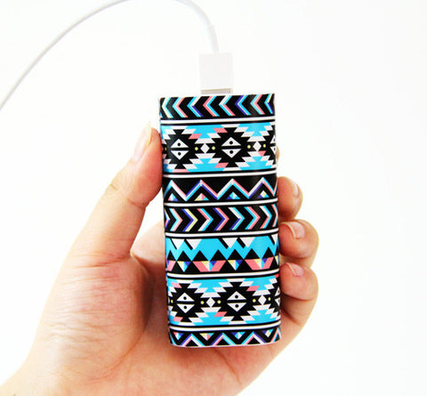 Tribal Ethnic Pattern Power Bank Charger for iPhone and Samsung - Acyc - 1