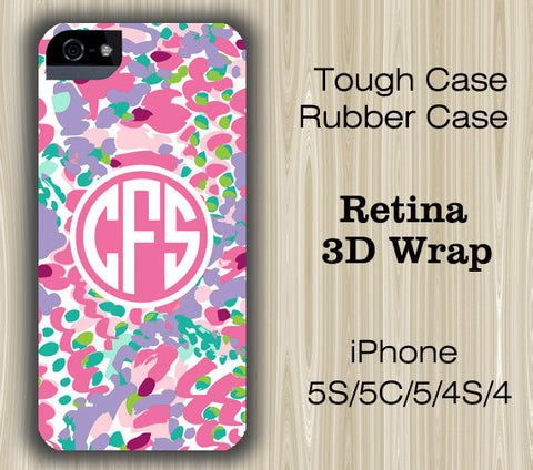 Vibrant Color Arts Monogram iPhone 6/5S/5C/5/4S/4 Case - Acyc - 1