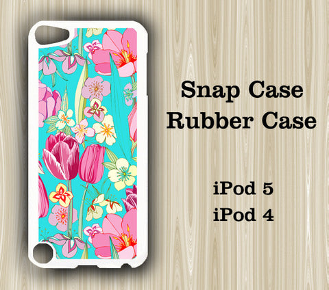 Vibrant Floral Pattern iPod Touch 5 Case iPod Touch 4 Case - Acyc - 1