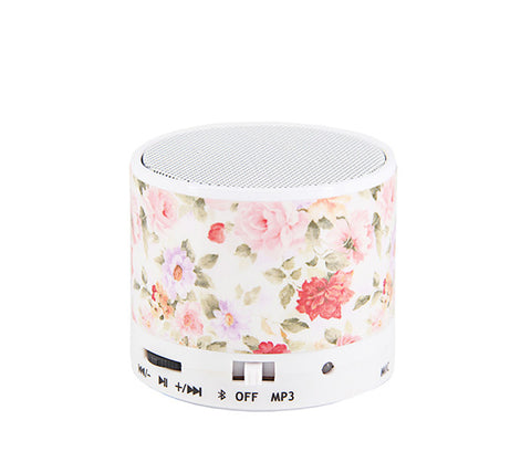 Watercolor Flowers Pastel Design Portable Bluetooth Mini Speaker Unique - Acyc - 1