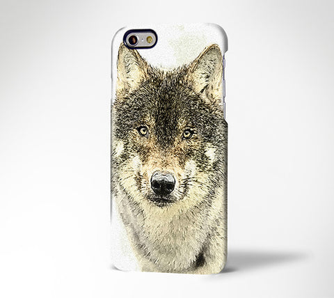 Wolf Sketch iPhone 6 Case 6S/Plus/SE/5S/5C/5/4S Dual Layer Durable Tough Case#279 - Acyc - 1