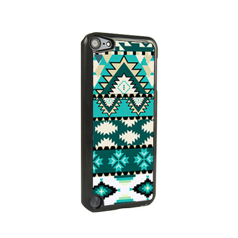 Aztec Green Stripes iPod Touch 5 and iPod Touch 4 Case - Acyc