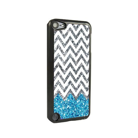 Blue Glitter Chevron iPod Touch 5 and iPod Touch 4 Case - Acyc