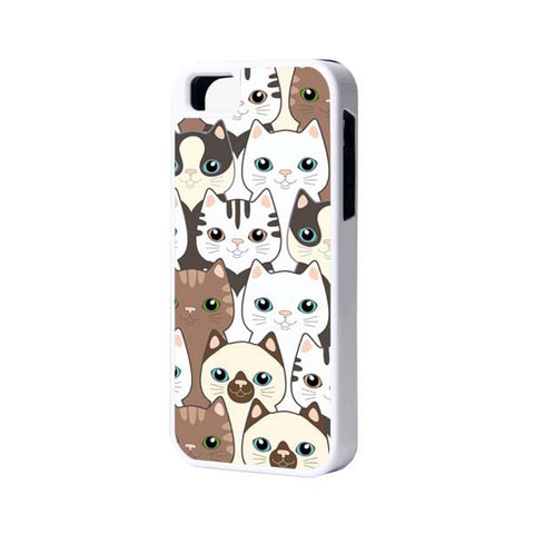 Cats iPhone 6 Plus 6 5S 5 5C 4 Rubber Case - Acyc - 1