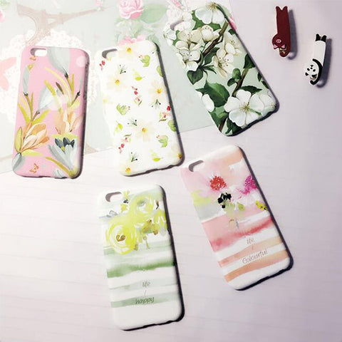 Summer Floral  soft Rubber iPhone 6S/6 Case S002 - Acyc