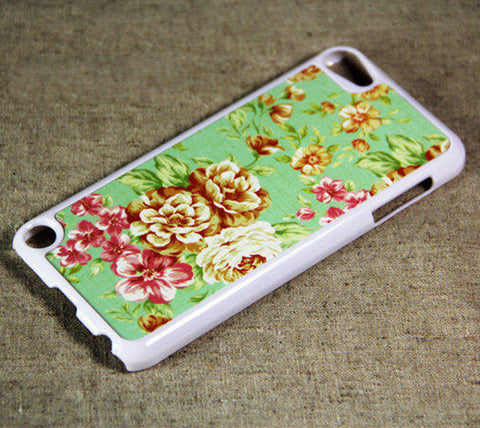 Floral Print iPod Touch 5 Case and iPod Touch 4 Case Free Shipping - Acyc