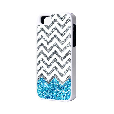 Blue Glitter iPhone 6 Plus 6 5S 5 5C 4 Rubber Case - Acyc - 1