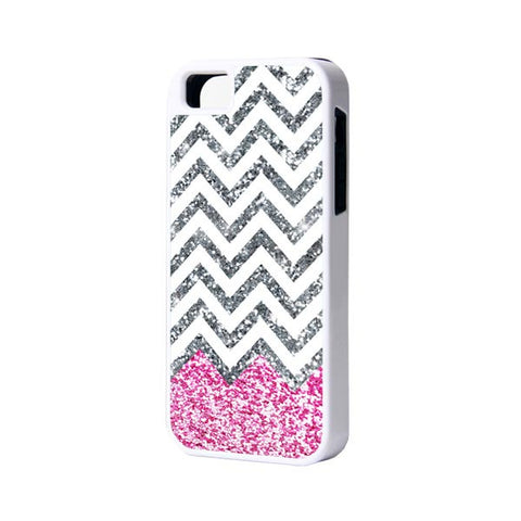 Pink Glitter iPhone 6 Plus 6 5S 5 5C 4 Rubber Case - Acyc - 1