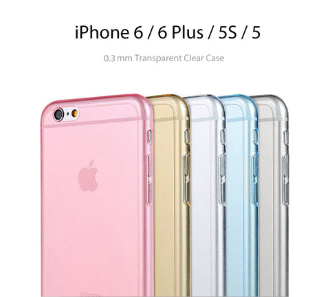 Pastel Color Soft Clear Case for iPhone 6S/6S Plus/ 6/6plus/5S / 5 - Acyc - 1