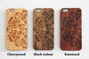 Floral Monogram Engraved iPhone 6s Case iPhone 6s plus Cover iPhone 6 5s 5 Real Wood Case - Acyc - 2
