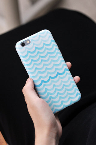 Mint Blue Chevron iPhone 6S/6 Case S001 - Acyc