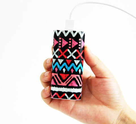 Unique Ethnic Stripes Power Bank Charger for iPhone and Samsung - Acyc - 1