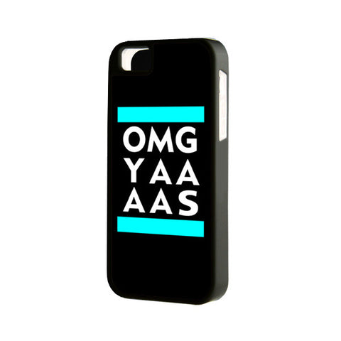 Black OMG YAAAS iPhone 6 Plus 6 5S 5 5C 4 Rubber Case - Acyc - 1