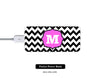 Stylish Chevron Monogram Power Bank External Battery Charger for iPhone and Samsung Andriod - Acyc - 1