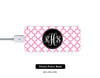 Girls Love Gifts Pink Quatrefoil Monogram Power Bank External Battery Charger for iPhone and Samsung Andriod - Acyc - 1