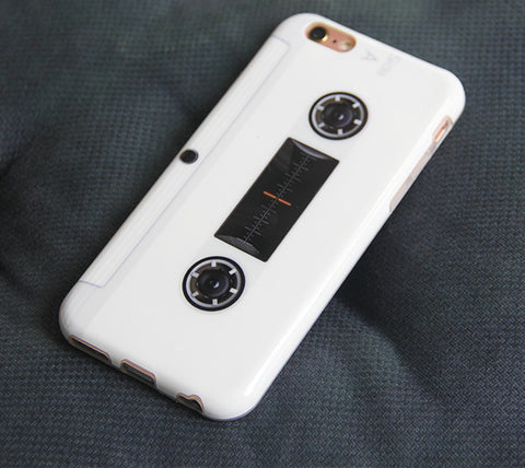 White Cassette Tape Print iPhone 6S/6 Case Retro iPhone 6 Plus/6S Plus Rubber Case #000 - Acyc - 1