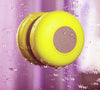Yellow Wireless Portable Waterproof Suction Shower Mini  Bluetooth Mic Speaker - Acyc - 1