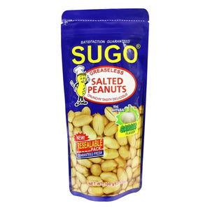 Sugo Greaseless Salted Peanuts Garlic 100g
