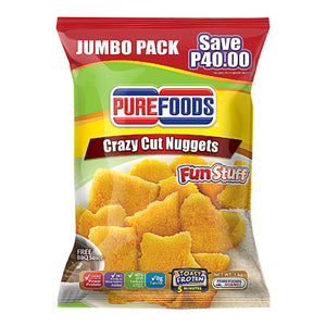 Purefoods Chicken Nuggets FunStuff Crazy Cut BBQ Sauce Jumbo Pack 1kg