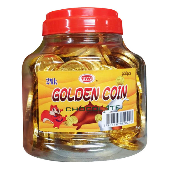 Tiwi Golden Coin Chocolate 100s