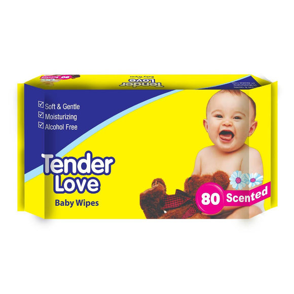 Tender Love Baby Wipes Scented 80s