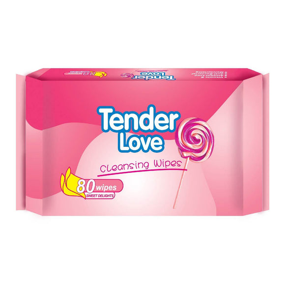 Tender Love Cleansing Wipes Sweet Delights 80s