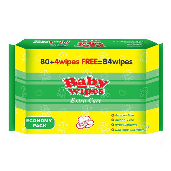Uni-Care Baby Wipes Extra Care Economy Pack 80s