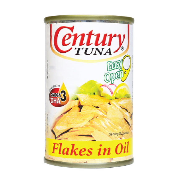 Century Tuna Flakes in Vegetable Oil Easy Open Can 155g