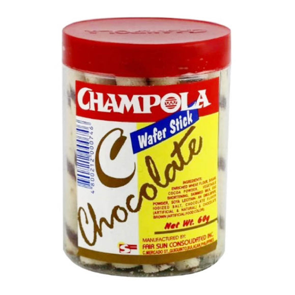 Champola Wafer Stick in Can Choco 60g
