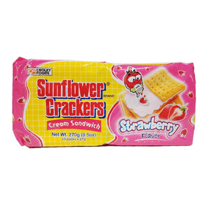 Sunflower Crackers Cream Sandwich Strawberry 10x27g