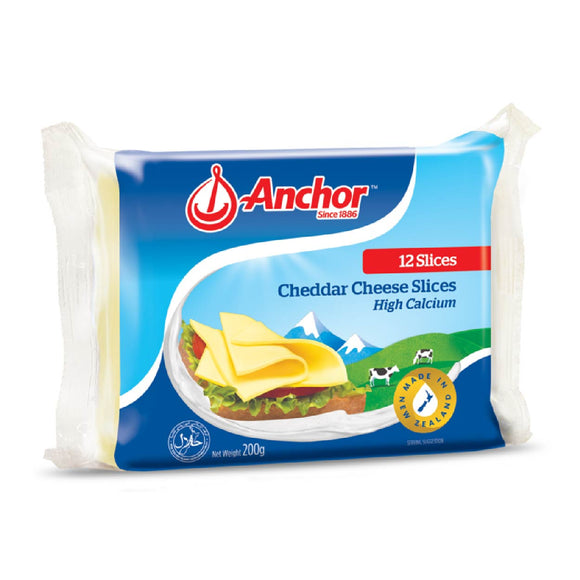 Anchor Cheddar Cheese Singles 200g