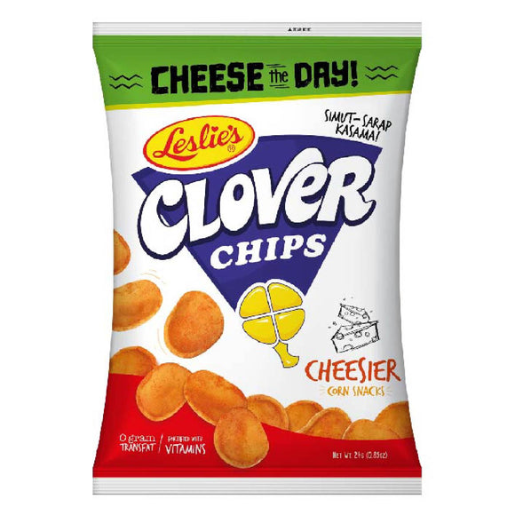 Clover Chips Corn Snacks Cheese 24g