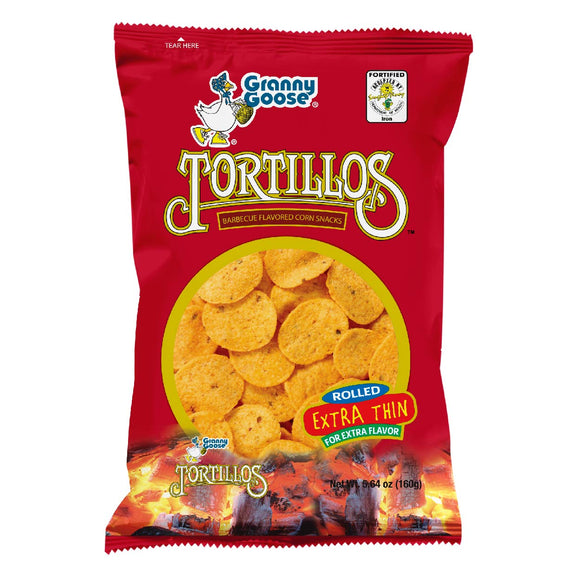 Granny Goose Tortillos Corn Snacks Barbeque 160g