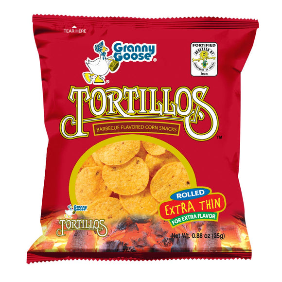 Granny Goose Tortillos Corn Snacks Barbeque 25g